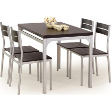 Halmar MALCOLM table + 4 chairs color: wenge