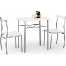 Halmar LANCE table + 2 chairs color: white