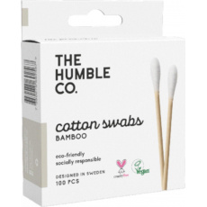 Humble Brush Cotton swabs bamboo, vatové tyčinky z biobavlny a bambusu 100 ks